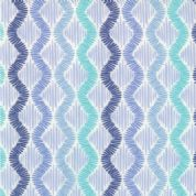 Moda Sunnyside - 2858 - Aqua and Blue Zig Zag Stripes on White - 100% Cotton Fabric